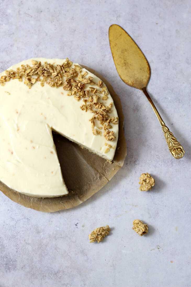 Käsekuchen ohne Backen mit Kokos   bäckerina.de