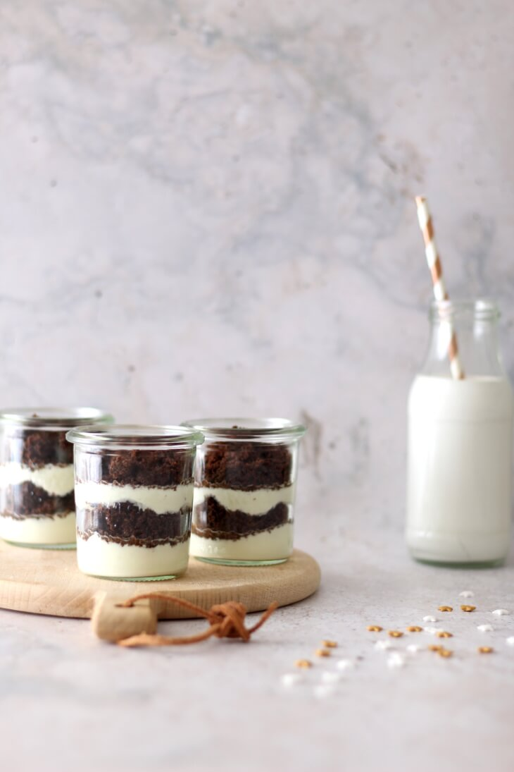 Schichtdessert mit Brownie & Cheesecake   bäckerina.de