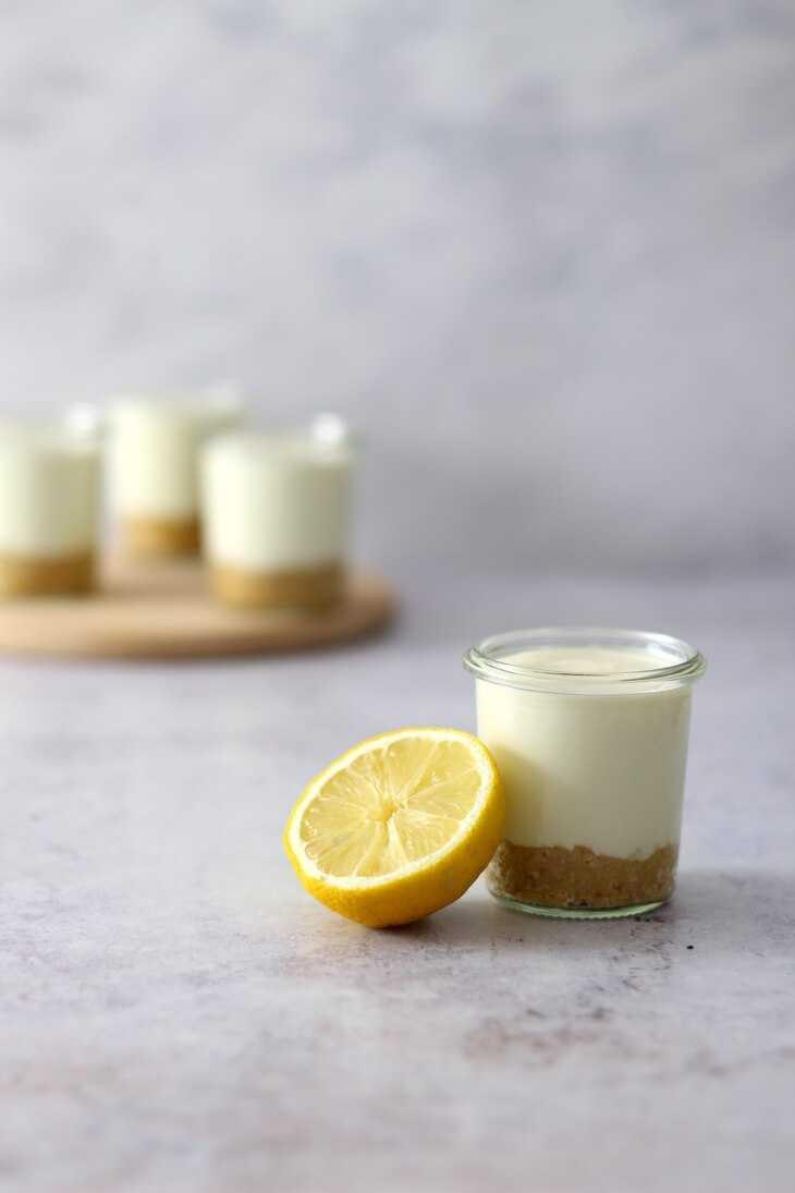 Zitronen Käsekuchen im Glas | bäckerina.de