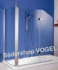 Duschabtrennung Badewanne zweiteilig mit Seitenteil ...