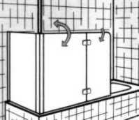 Duschabtrennung Badewanne PREMIUM zweiteilig mit ...