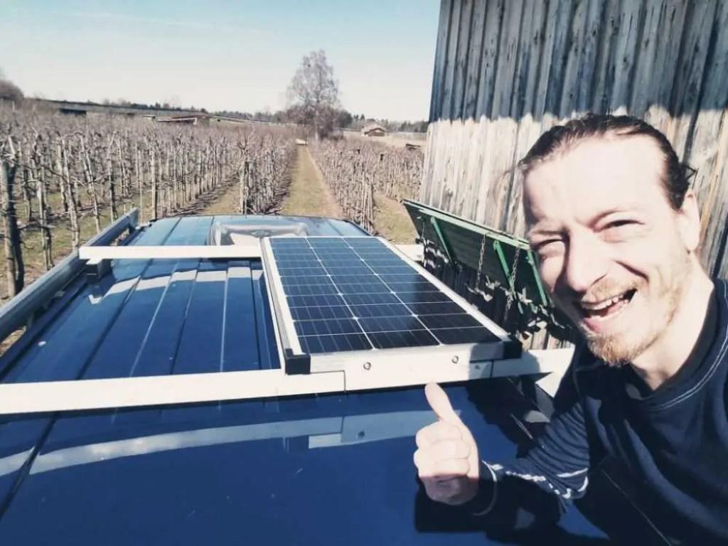 Solaranlage für unseren VW Bus