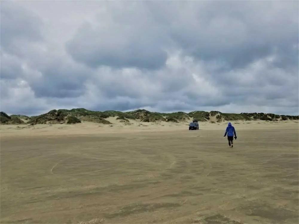 Am Strand auf der Insel Romo in Dänemark.