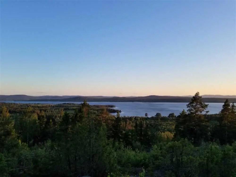 Der Siljan See bei Mora in Schweden