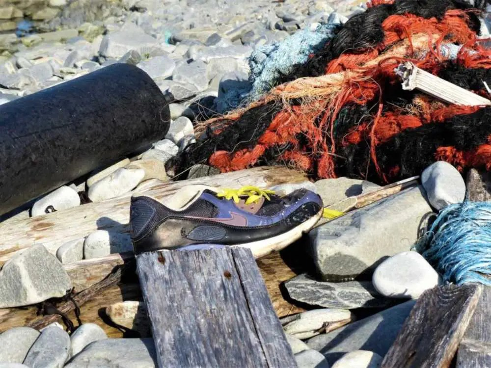 Müll an der Küste Nordkinn