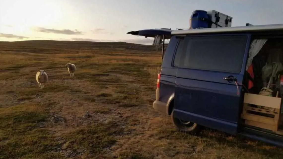 Camper Leben in der Finnmark