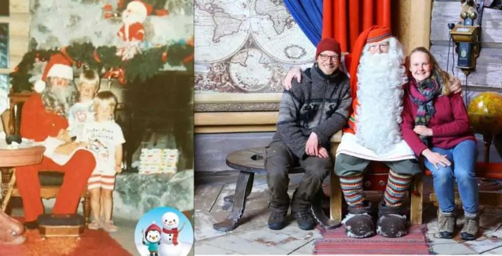 Der Weihnachtsmann in Finnland. Unterschied von früher und heute.