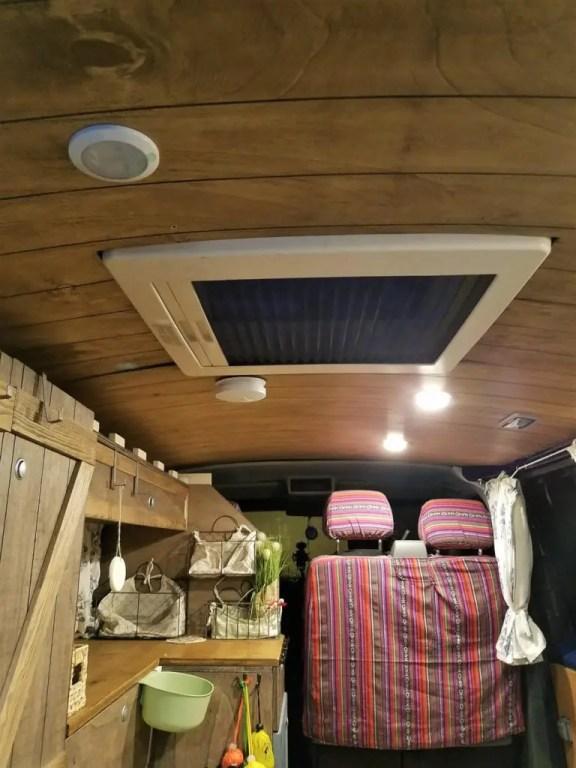 LED Camper Lampen für den Dachhimmel.