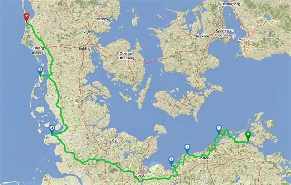 Reiseroute Blog 3 Skandinavien-Baltikum-Tour