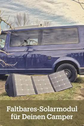 Faltbares Solarmoul für den Camper