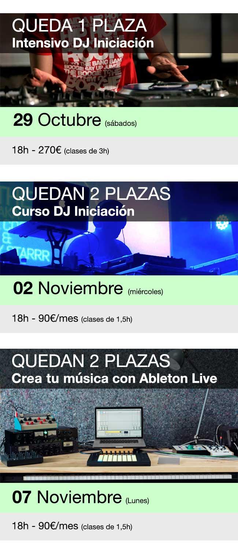 Últimas plazas cursos Baffle DJs