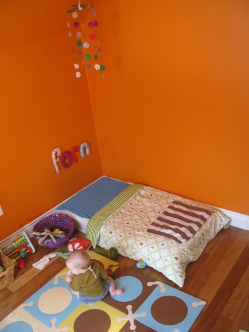 decor montessori laranja