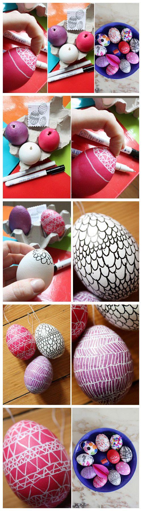brincadeira de pascoa pintura em ovos