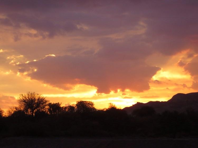 Por do sol no deserto do Atacama, Chile