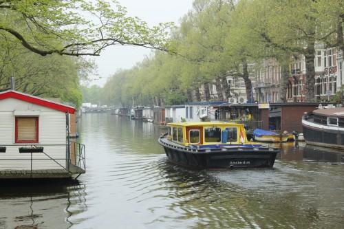 As conhecidas casas-barco de Amsterdam