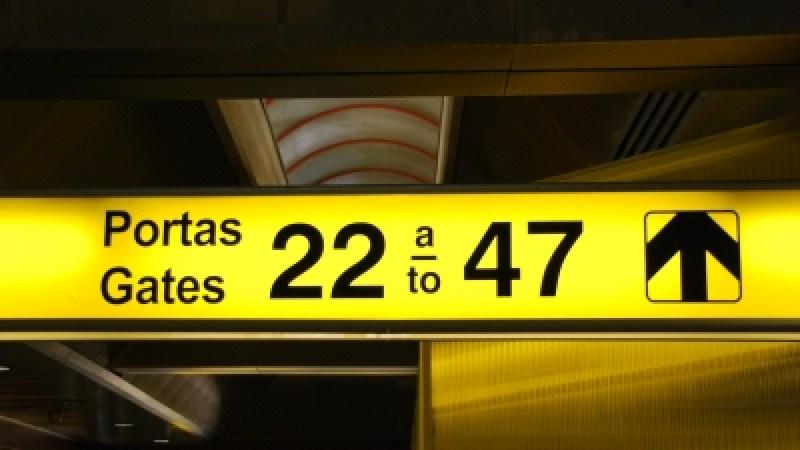 Departure Gates Sign