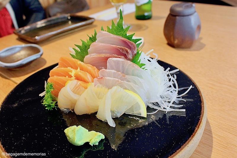 Sashimis no Restaurante Junji Sakamoto.