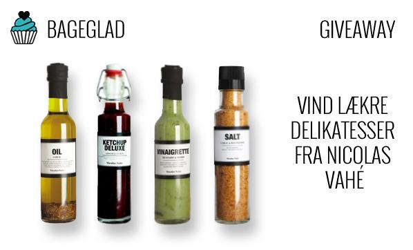 Nicolas Vahé giveaway fra Bageglad.dk