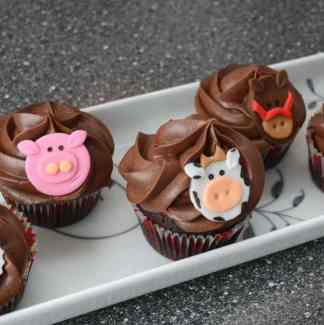 Dyr cupcakes