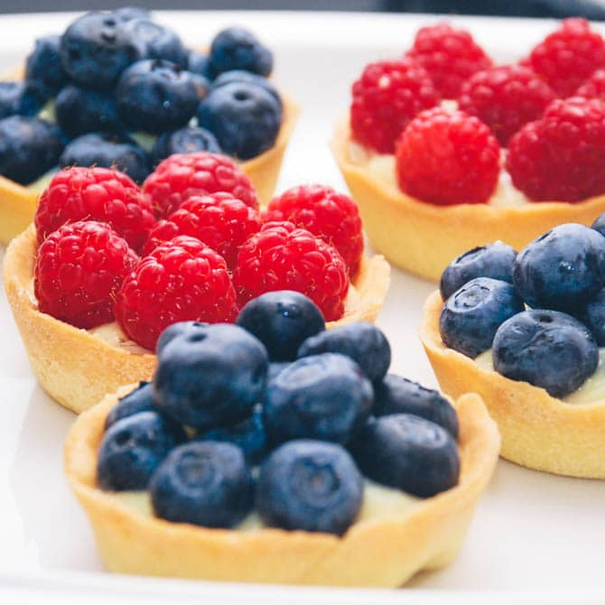 Små frugttærter