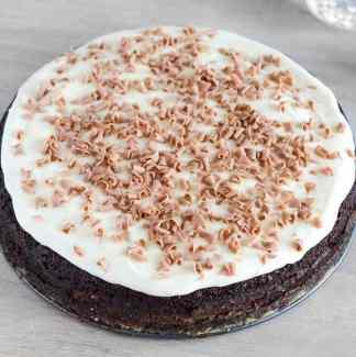 Chokoladekage pynt