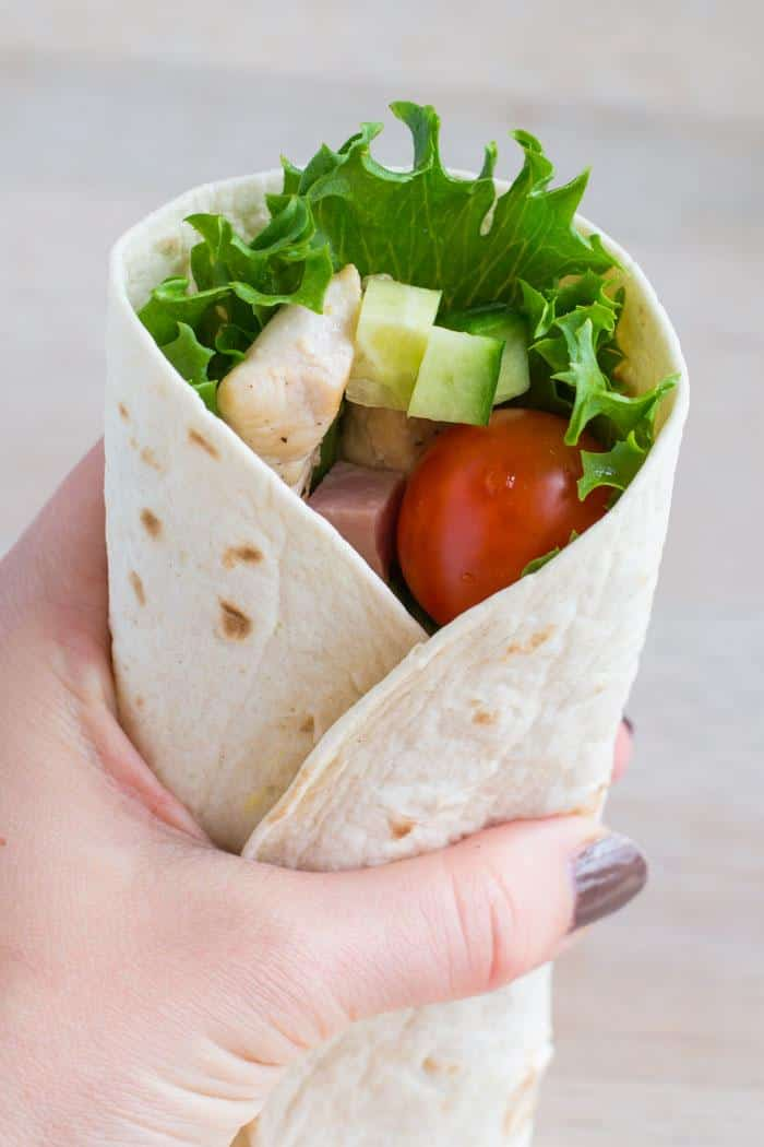 Wrap med kylling og salat