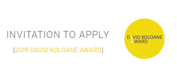 2019 David Koloane Award