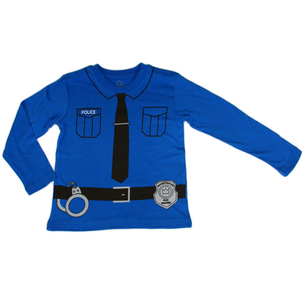 Tuff långärmad tröja med polistryck strl 86/92