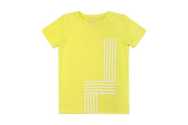 Läcker gul tshirt Reima strl 110 svalkande fuktavledande