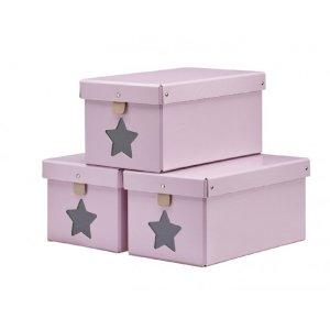 Skolådor 3 st rosa