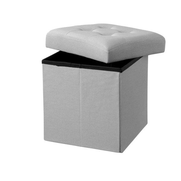 Sittpuff linne grå 30 cm
