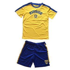 Tvådelat Sverige set med funktionströja shorts barn 86/92