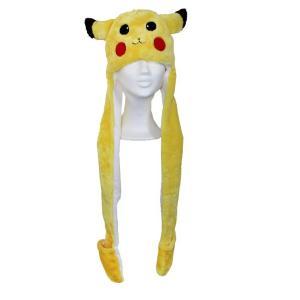 Pokemon Pikachu mössa med halsduk och vantar