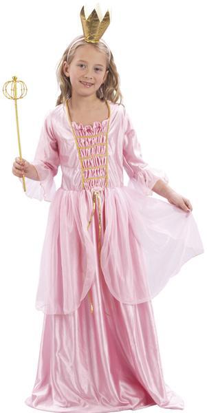 Maskeraddräkt prinsessa rosa 110-122
