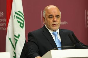 Iraq's Prime Minister Haider al-Abadi. / Photo taken by Foreign and Commonwealth Office