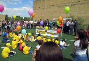 La scuola di Bagheria unita per salvare il campetto di calcio di Contrada Monaco
