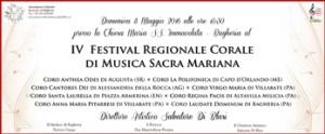 IV FESTIVAL REGIONALE CORALE DI MUSICA SACRA MARIANA