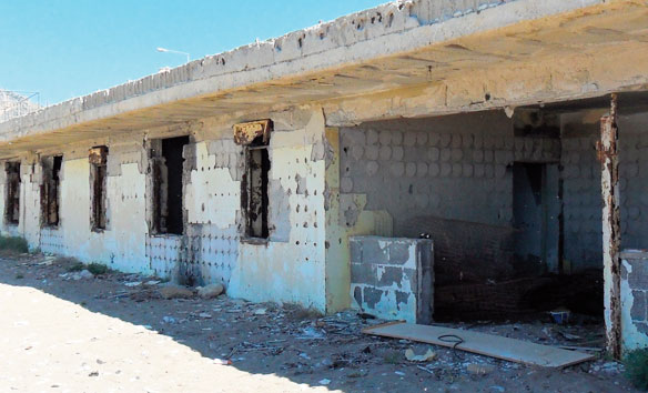 Una delle case abusive ad Aspra