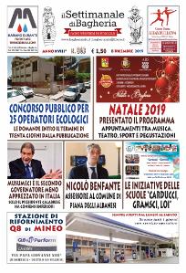 Copertina del Settimanale di Bagheria n.ro 863 del 08 dicembre 2019