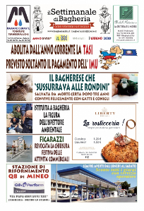Copertina del Settimanale di Bagheria n.ro 881 del 07 Giugno 2020