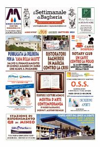 Copertina del Settimanale di Bagheria n.ro 900  del 25 Ottobre 2020