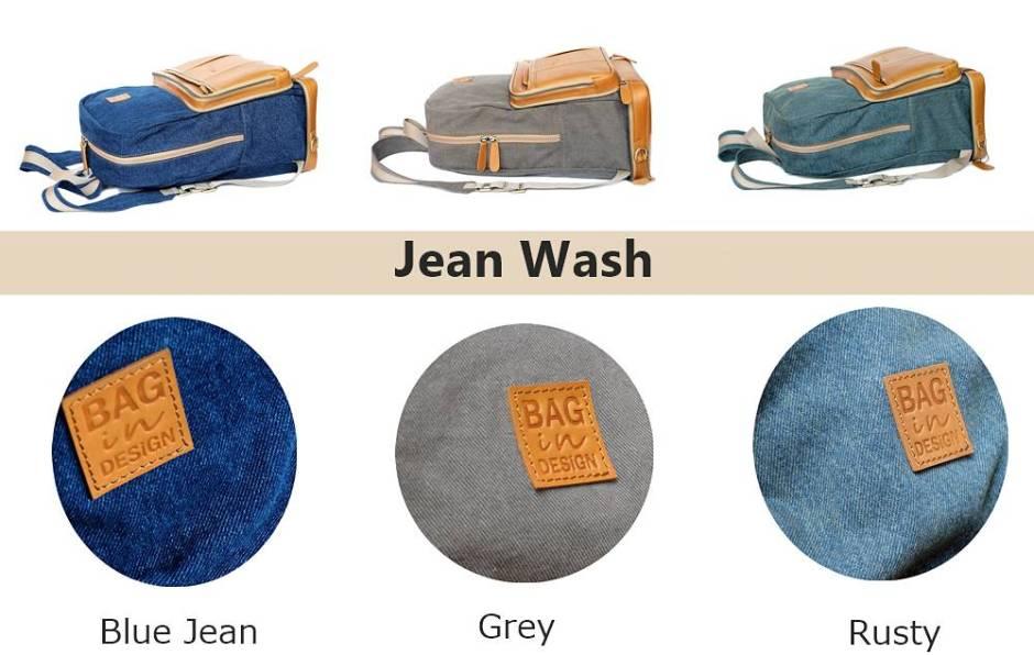 กระเป๋าหนัง ผ้า Jean wash
