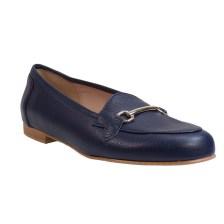 Smart Cronos Γυναικεία Παπούτσια Μοκασίνια 7018-1820 Μπλέ Δέρμα