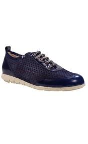 PEPE MENARGUES SHOES Sneakers Γυναικεία Παπούτσια 2050 Μπλέ Δέρμα