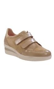 PEPE MENARGUES SHOES Sneakers Γυναικεία Παπούτσια 2058 Μπέζ Δέρμα