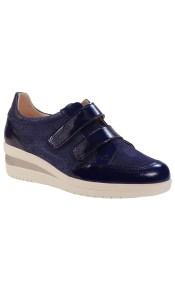 PEPE MENARGUES SHOES Sneakers Γυναικεία Παπούτσια 2058 Μπλέ Δέρμα