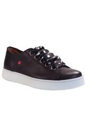 Fratelli Robinson Γυναικεία Παπούτσια Sneakers 4185 Μαύρο Δέρμα