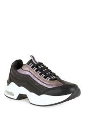 Renato Garini Γυναικεία Παπούτσια Sneakers 078 Μαύρο Πολύχρωμο Glitter J157Q078250U