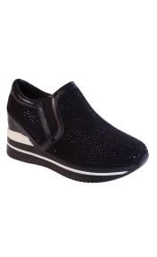 Bagiota Shoes Γυναικεία Παπούτσια Sneakers DS511 Μαύρο
