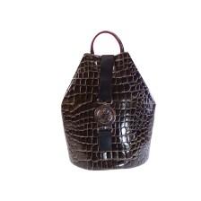 FRNC FRANCESCO Τσάντα Γυναικεία Πλάτης-Backpack 1414 Καφέ Κροκο